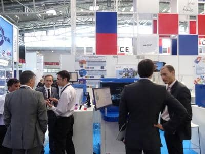 People at exhibition microtas 2018