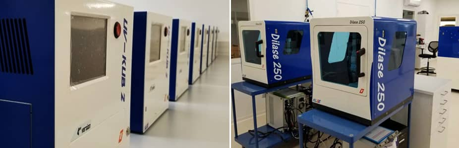 UV-LED maskers UV-KUB 2 and photolithography systems tabletop Dilase 250