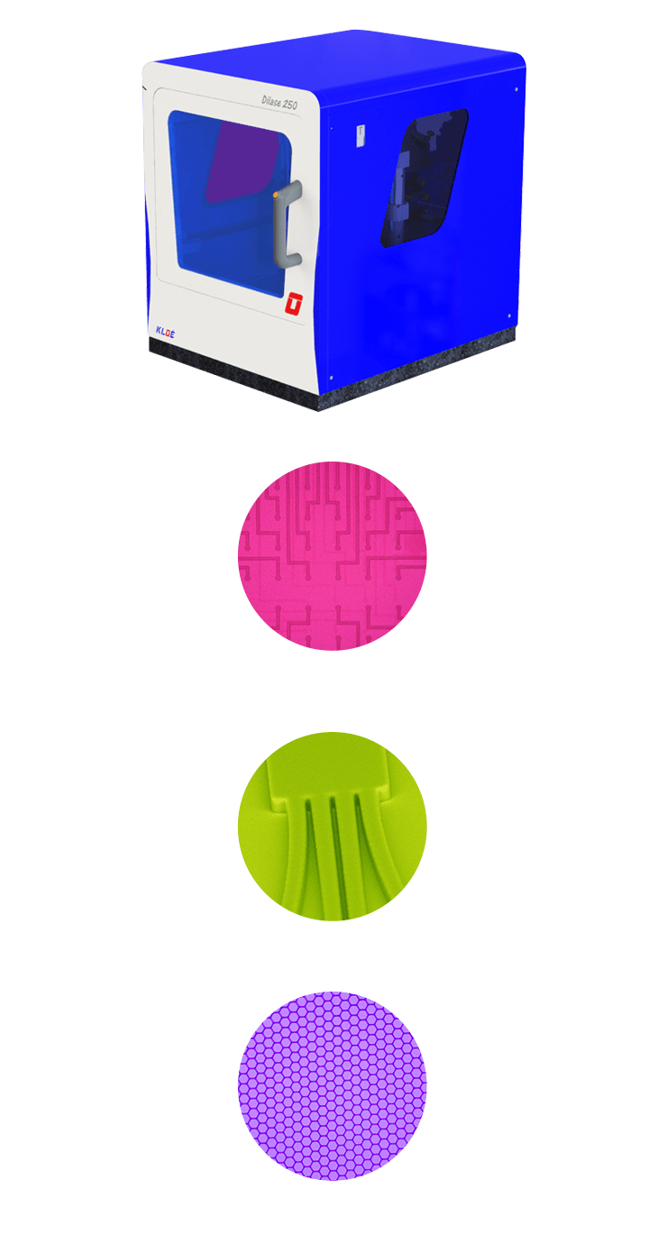 Direct laser writer Dilase 250 and some examples of applications
