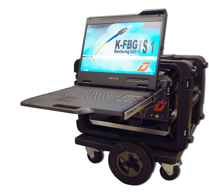 Capteur à fibre optique K-FBG : écran de monitoring