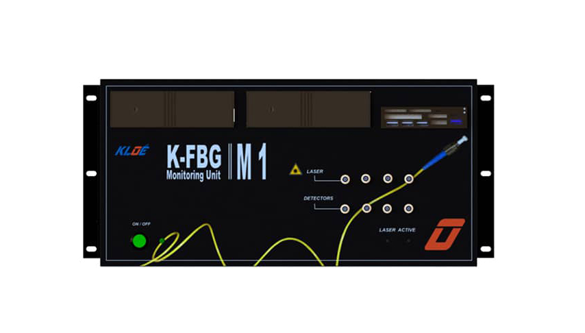 Optical fiber sensor K-FBG: front panel
