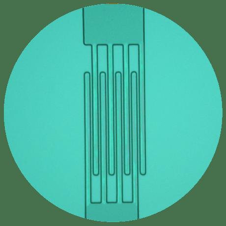 Example of microelectronics device: interdigit