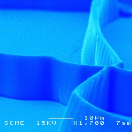 Curved Microwalls