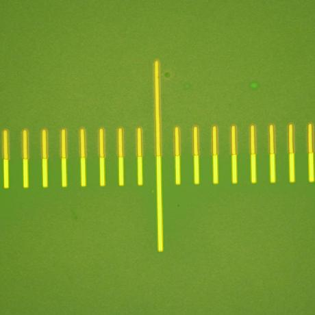 Example of microelectronics device: alignment made with Dilase equipment