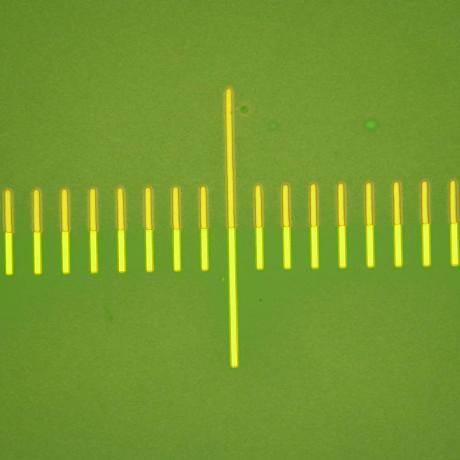 Dispositif microélectronique : alignement réalisé avec un équipement Dilase