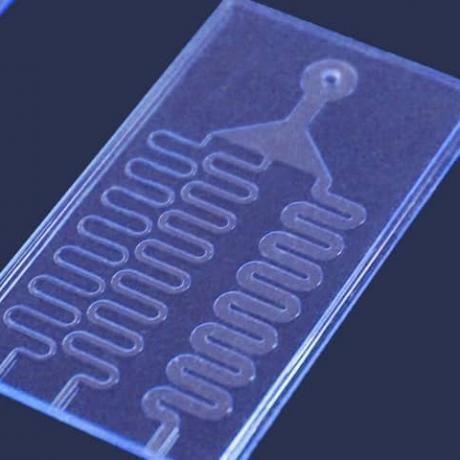 Example of microfluidics device: platelets