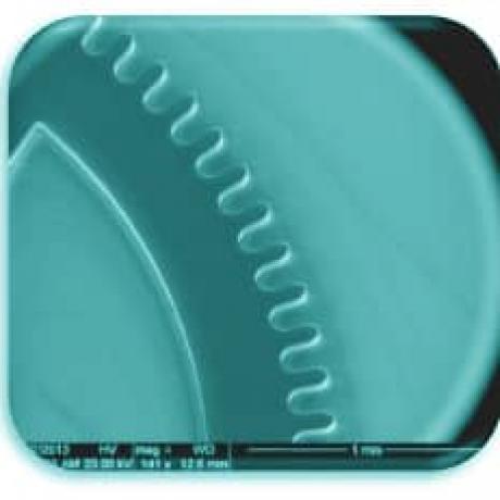 Exemple de structure micromécanique : micro-roue