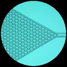 Exemple de dispositif microfluidique